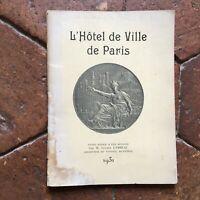 Lucien Falda Istruzioni HOTEL Di Città Di Parigi 1931