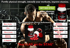 Red Stag Testosterone High T Booster Bodybuilding Testo Extreme No/Steroids