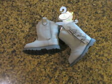 Baby Deer Gray Infant Western Fringe Boots Shoes boys girls 2 6-9 Months NIB new