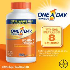 One A Day Women's Multivitamin 300 Tablets Complete Vitamin BAYER Bone Health