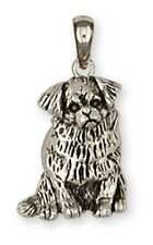 Tibetan Spaniel Pendant Handmade Sterling Silver Dog Jewelry TS3-P