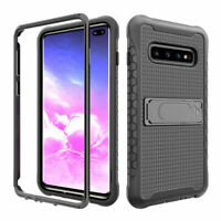 For Samsung Galaxy S10 S10 Plus Rugged Shockproof Hybrid Bumper Stand Case Cover