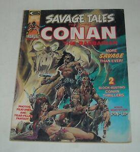 SAVAGE TALES # 4 MARVEL COMICS MAGAZINE May 1974 CONAN the BARBARIAN ADAMS COVER