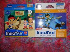 Lot 2 VTECH INNOTAB GAMES Miles From Tomorrowland & Jake Neverland Pirate Lot#28