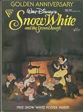 GOLDEN ANNIVERSARY SNOW WHITE & THE SEVEN DWARFS WITH POSTER MAGAZINE FALL 1987