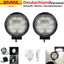 2x 27W 9 LED Arbeitsscheinwerfer Offroad Scheinwerfer 60 Grad Runde 12V/24V SUV