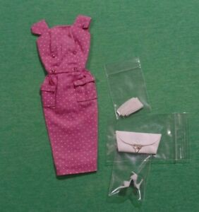 Vintage Barbie Japanese Exclusive Pink Dotted PAK Sheath Dress with Accessories