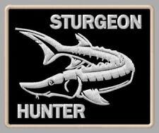 "STURGEON HUNTER EMBROIDERED PATCH ~3-1/8""x 2-1/2"" BRODÉ MUOKKAA BRODERAD FISHING"