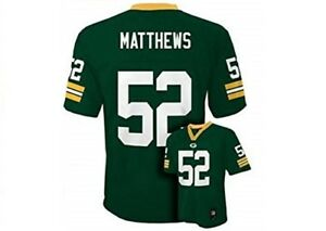 Boys' Green Bay Packers Clay Matthews Replica Jersey Color: Green, Size: M 10-12