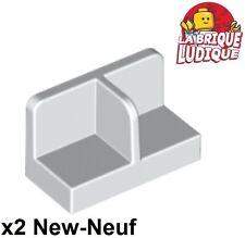 Lego - 2x Panel Panneau 1x2x1 Center Divider cale blanc/white 93095 NEUF