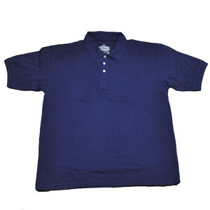 Red Jacket Navy Blue Polo Collar Shirt Button Dress Shirt Mens Adult Cotton