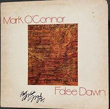 MARK O'CONNOR PERFECTLY SIGNED FALSE DAWN ALBUM COVER  WITH JSA COA.