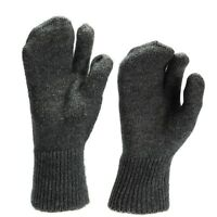 Genuine Swiss army military gloves Liners wool warmers trigger mittens military