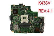 For ASUS K43SM X43S A43S K43SV Motherboard GT540M HM65 1GB REV:4.1 Mainboard