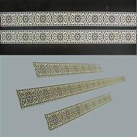 4 Bordüren Blüten Holz Ornament schmal Walltattoo Verzierung Möbel Laserschnitt