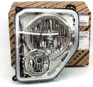 2008-2012 Jeep Liberty LH Driver Side Front Head Lamp Light New OEM 55157339AE