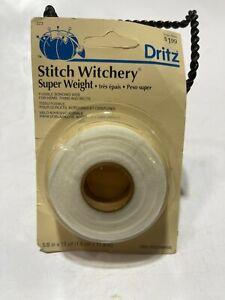 "Dritz Stitch Witchery Fusible Bonding Web Super Weight 5/8"" X 13yds - NIP!"