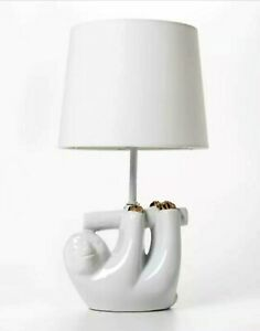 Pillowfort Sloth Table Lamp White and Gold