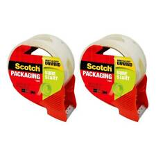 Scotch Sure Start Shipping Packaging Tape With Dispenser 188in X 382yd 2 Pack