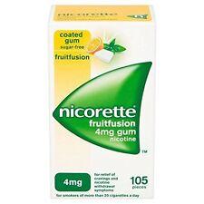 Nicorette Fruitfusion Gum 4 MG 105 Pieces