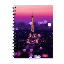 Eiffel Tower Notebook Wire Bound Spiral School Office Notepad A5 Journal Diary