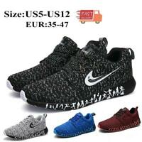 Womens Mens Trainers Running Fitness Shoes Mesh Sneakers Lace Up Breathable Plus