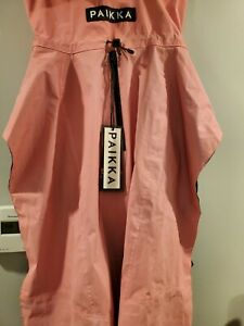 """NEW PAIKKA High Visibility Dog Raincoat, Pink, Extra Large XL 22"""" neck to tail"""