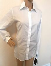 NWT $598 Gucci Women's Optical White Dress Shirt 44 Made in Italy