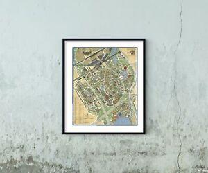 1964-1965 Map of New York | Official Souvenir Map, New York World's Fair | Vinta