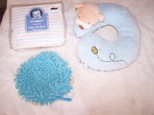 Little Ones Assortment New Crib Sheets, Neck Pillow Chum & Soft Washer in EXCELL