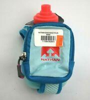 Nathan Quickshot Plus Water Bottle Blue & Pink Running Hydration Flask 10 oz