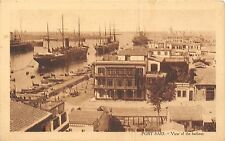 POSTCARD    EGYPT   PORT  SAID  View of the  harbour