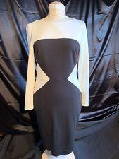 Lauren Ralph Lauren Black & White Long Sleeve Dress Sz 8