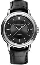RAYMOND WEIL MAESTRO AUTOMATIC DATE BLACK DIAL MEN'S WATCH 2847-STC-20001 NEW