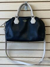 Kate Spade Black Beige Leather Crossbody Handbag
