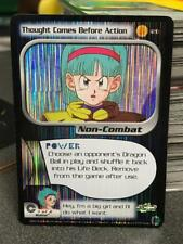 DBZ CCG THOUGHT COMES BEFORE ACTION 120 FOIL HOLO RARE LIMITED TRUNKS SAGA