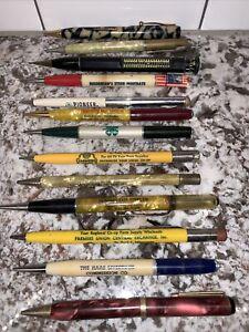 Vtg Advertising Mechanical Pencil Lot 13 4-H Pioneer Farmers Union Moorman's +++