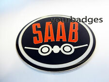 Enamel Chrome Retro Aero SAAB Car Badge Sweden 95 93 Aero 900