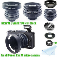 Newyi 35mm f/1.6 CCTV Mini Lens for Canon EOS Mount Mirro Camera & Hood Adapter!