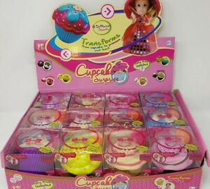 CUPCAKE SURPRISE TRANSFORMS FROM CUPCAKE TO PRINCESS & BRUSH - 12 DIFFERENT CAKE