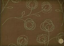 Crypton® CF Stinson Cottonwood Chocolate Mint Modern Floral Upholstery Fabric