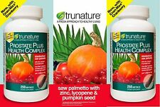 2 trunature Prostate Health Complex, 250 Softgels New...Sealed!!