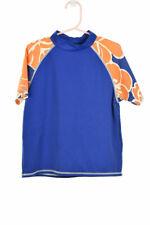 Lands' End Boys Swimwear Rashguards 7 Blue Nylon