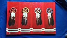 Richard Red Owl original Painting Titled Four Directions