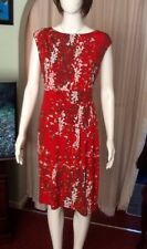 Red Wiggle Dress With Japanese Style Pattern Size 16 From Debenhams