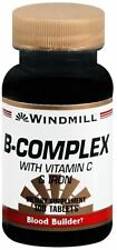 Windmill B-Complex Tablets With Vitamin C and Iron 100 Tablets (Pack of 5)