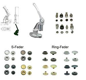 Knopfpresse, Druckknöpfe, Messing, nickel-frei, Druckknopf Werkzeug, Zange
