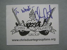 "CHRIS DUARTE    The Chris Duarte Group  Signed  4 1/2"" X 5 1/2"" Promotional Card"