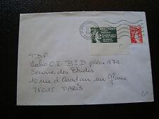 FRANCE enveloppe 1980(vignette de protestation bretigny sur orge)(cy7)french(Z)