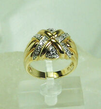 HSN Ribbon Cross Design Absolute Technibond GP Sterling Ring SZ 7